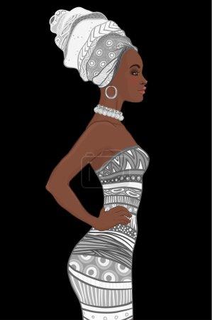 African American woman in turban