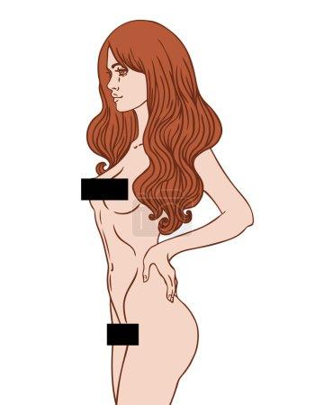 Pretty naked woman