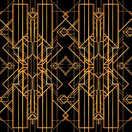 Art deco geometric retro pattern