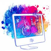Back to School: e-learning technology concept