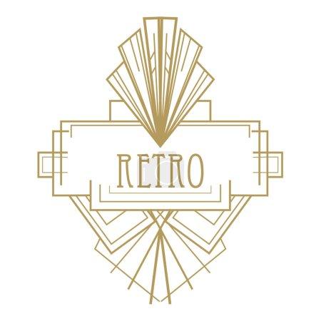 Art deco geometric retro pattern 1920's style, on ...