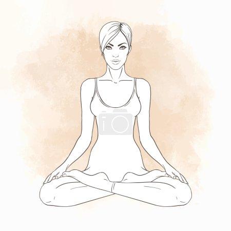 Girl sitting in Lotus pose