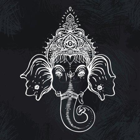 Illustration pour Seigneur hindou Ganesha. Illustration vectorielle . - image libre de droit