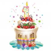 Šťastné narozeniny dort 1