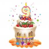 Happy Birthday cake 9