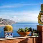 The beautiful view of the Coastline Taormina, Sici...