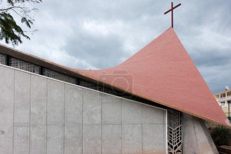 Partial view of the Church of Jesus Christ Redeemer Callao Salva