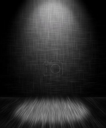 Photo for Light on floor, empty room background - Royalty Free Image