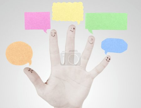 Fingers, teamwork concept