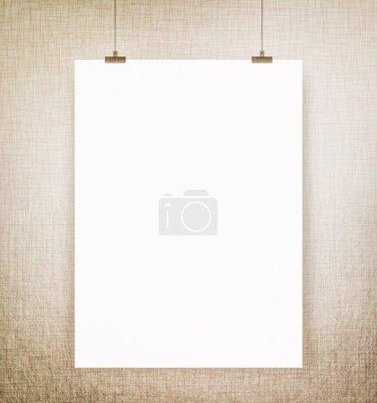 white blank poster