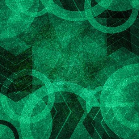 Photo pour Abstrait vert foncé vintage grunge texture fond - image libre de droit