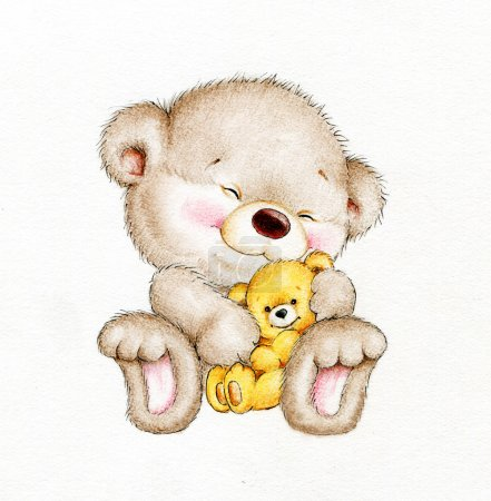 Teddy bear with baby bear