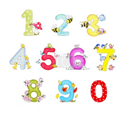 Photo for Illustration of funny numbers cartoon - Royalty Free Image