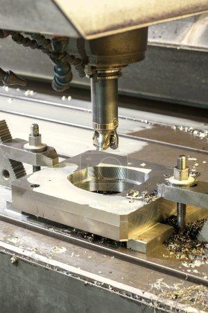 Square industrial metal mold/blank milling. Metal engineering, C