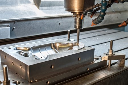 Industrial metal mold/die milling. Metalworking and engineering.
