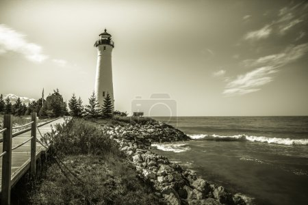 Vintage Lake Superior Lighthouse