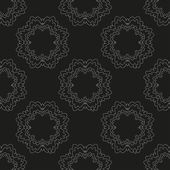 Abstract seamless pattern with dotty flowers in black and white Vector eps 10