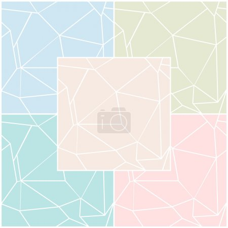 Illustration for Set of abstract seamless patterns in different colors. Vector eps 10. - Royalty Free Image