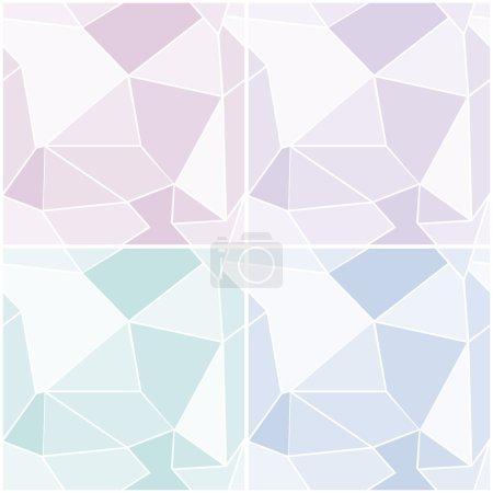 Illustration pour Ensemble de motifs géométriques abstraits sans couture dans des couleurs pastel froid. Vecteur eps 10 . - image libre de droit