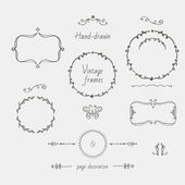 Vintage hand-drawn frames and page decoration