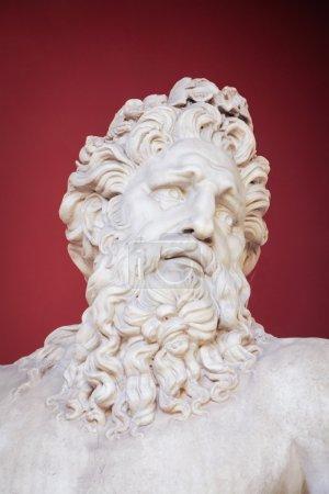 VATICAN - FEBRUARY 23, 2015: Ancient bust of Zeus in the Vatican Museum