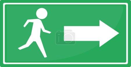 Illustration pour Illustration vectorielle de la signalisation d'issue de secours - image libre de droit