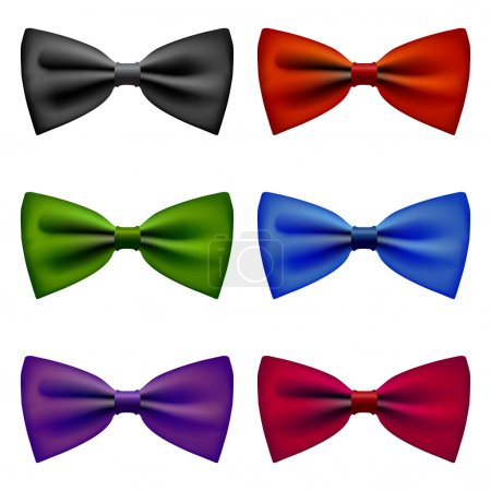 Illustration for Bow tie vintage formal fashion sybmol colors - Royalty Free Image