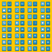 Blue game icons buttons icons interface