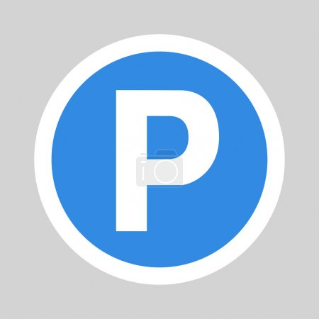 Car parking flat icon sign symbol logo