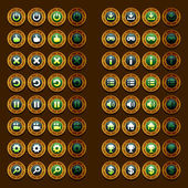 steam punk game icons buttons icons interface ui
