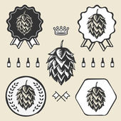 Hop craft beer vintage sign symbol label element