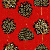 Enchanted Vintage Trees seamless pattern