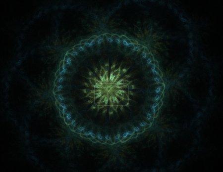 Photo pour Modèle radial fractal sur le sujet de la science, de la technologie et de la conception - image libre de droit