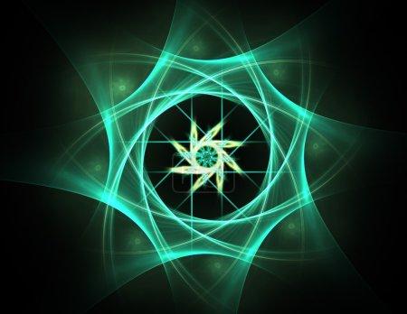 Photo pour Interface utilisateur futuriste de science-fiction. Illustration synthétique . - image libre de droit