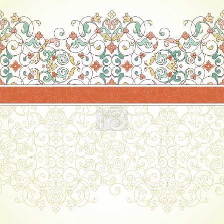Ornate seamless border in Eastern style.
