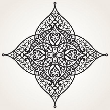 Ornament in Eastern style.