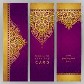 Vintage ornate cards in oriental style