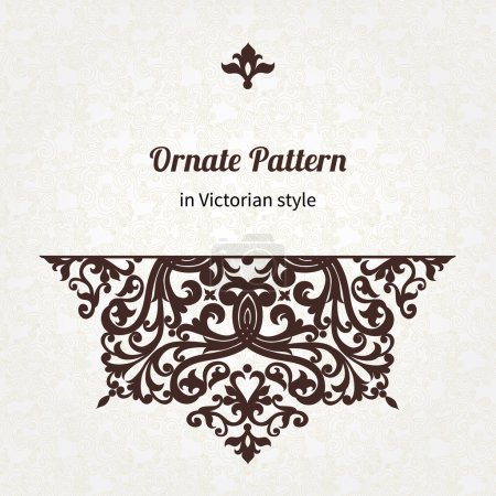 Pattern in Victorian style.