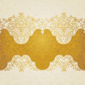Vector floral border in Eastern style