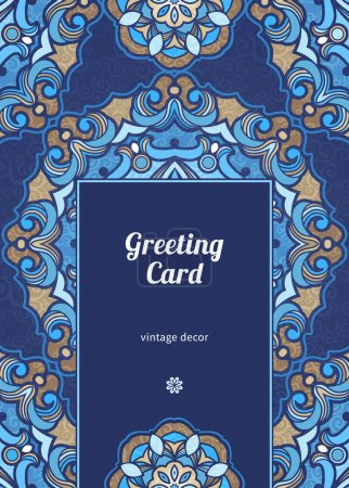 Vintage ornate card in Eastern style.