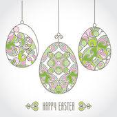 Vector set of pastel ornamental eggs for your Easter design