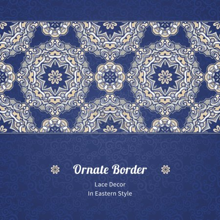 Seamless border in Eastern style.
