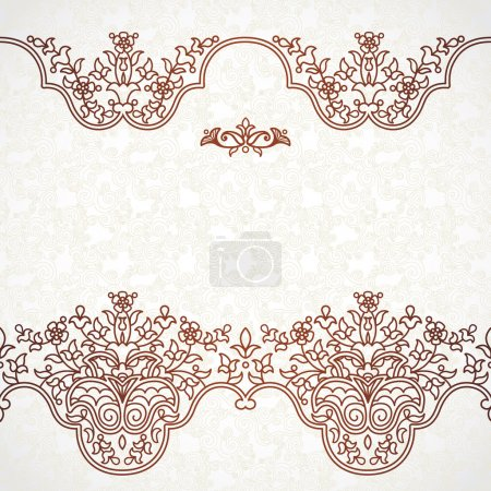 Floral border in Eastern style.