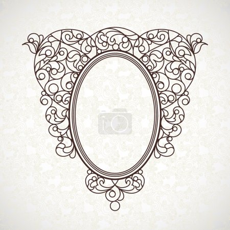 decorative line art frame in Eastern style.