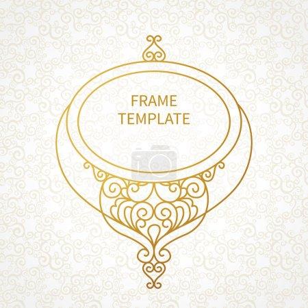 decorative line art frame for design