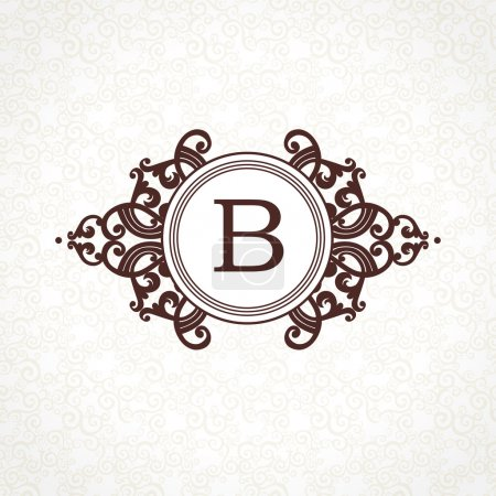 logo template in Victorian style