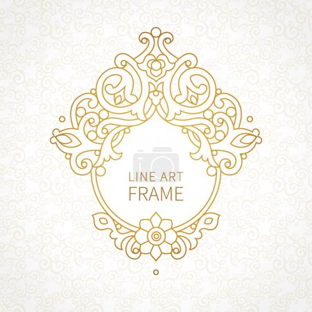 decorative line art frame