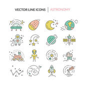 Space icons set made in modern line style vector Cosmos icons isolated on background and easy to use Clean and simple vector space symbols Space clipart