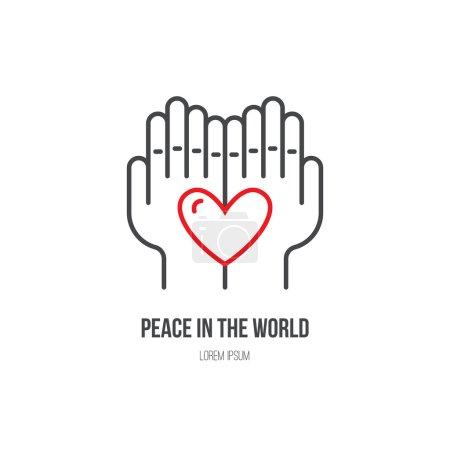 Heart in hands - symbols for non-profit organization