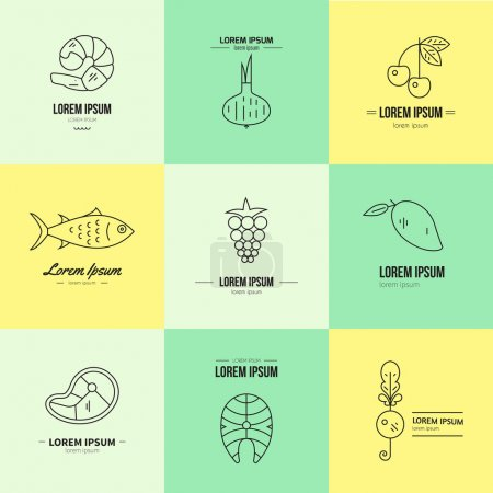 Set of logos Healthy Food